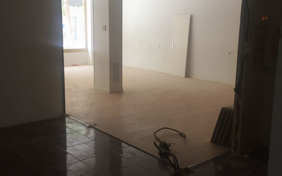 Así van las obras del nuevo local de Fisio Sport Murcia